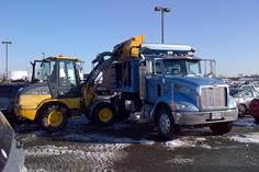 snow removal and truck