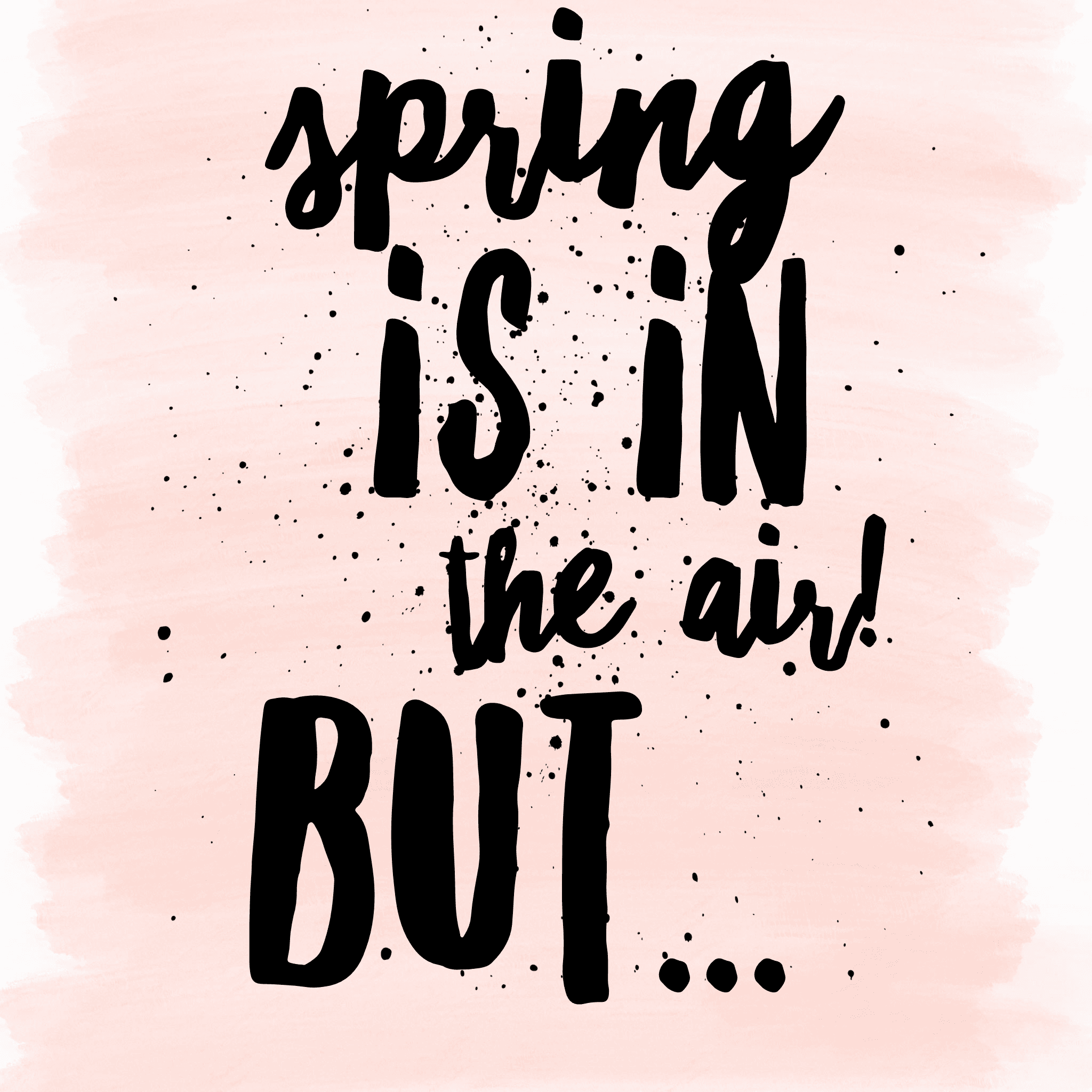 spring is in the air but